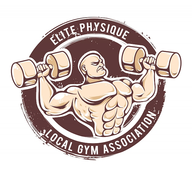 Vecteur de l'homme de gym