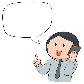 Vecteur d'homme parlant
