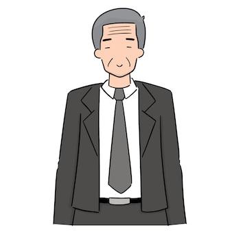 Vecteur d'un homme plus âgé