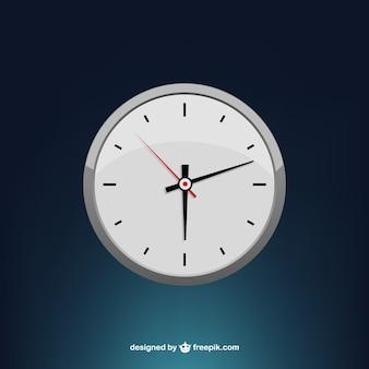 Vecteur d'horloge minimale stylisé