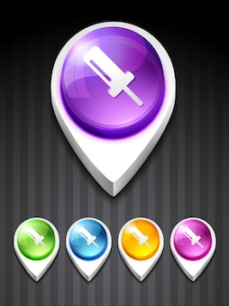 Vecteur icône 3d du symbole vis