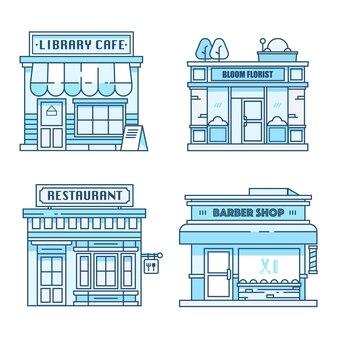 Vecteur d'icône de bâtiment de magasin