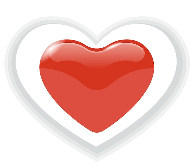 Vecteur d'icône de coeur