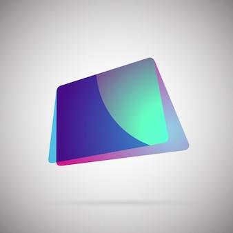 Vecteur d'icône coloré dégradé géométrique abstrait