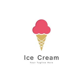 Vecteur d'icône de conception de logo de crème glacée