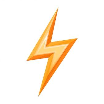 Vecteur d'icône éclair