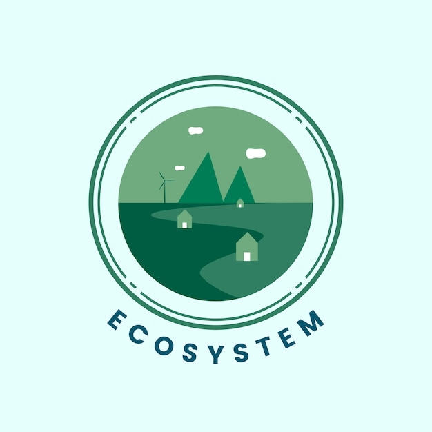 Vecteur d'icône écosystème et nature