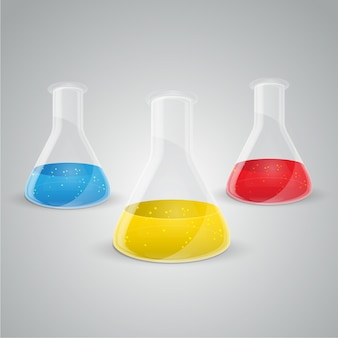 Vecteur d'icône de fiole de chimie.