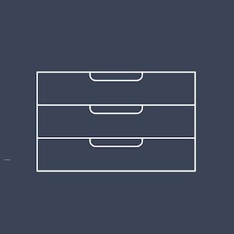 Vecteur de l'icône de fourniture de bureau