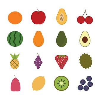 Vecteur d'icône de fruits