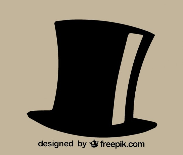 Vecteur icône en haut de chapeau