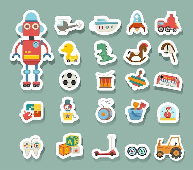 Vecteur d'icône de jouets