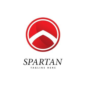 Vecteur d'icône logo bouclier spartiate