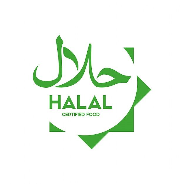 Vecteur d'icône de nourriture halal traditionnel musulman. badges, logo, étiquette et étiquette. convient pour bannir