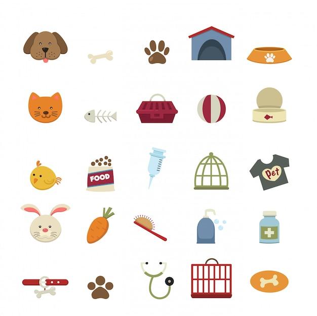 Vecteur d'icônes de chien
