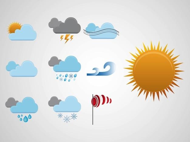 Vecteur icônes météo climatiques