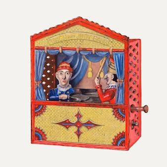 Vecteur d'illustration de banque de jouets vintage, remixé à partir de l'œuvre d'art de beverly chichester