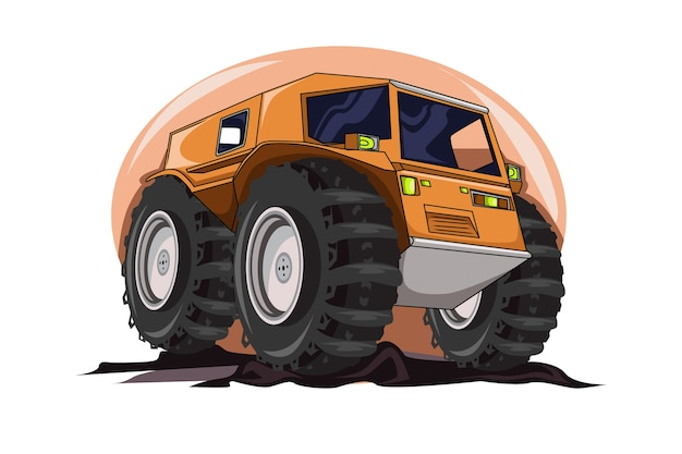 Le vecteur d'illustration de camion monstre atv