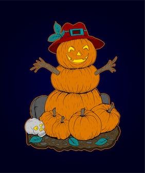 Vecteur d'illustration citrouille, vecteur de jour d'halloween