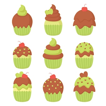 Vecteur d'illustration de cupcake