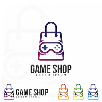 Vecteur d'illustration du logo game shop.