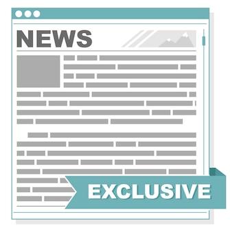 Un vecteur illustration de l'écran d'interface de journal