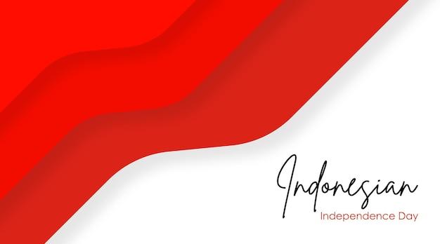 Vecteur d'illustration de fond de fête de l'indépendance indonésienne