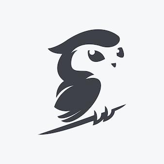 Vecteur d'illustration hibou mignon