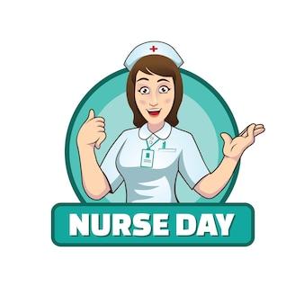 Vecteur d'illustration de jour d'infirmière