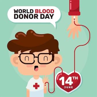 Vecteur d'illustration de la journée mondiale des donneurs de sang