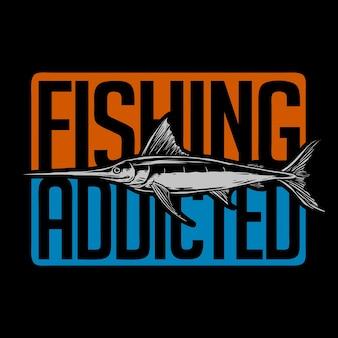Vecteur d'illustration de logo de poisson épée