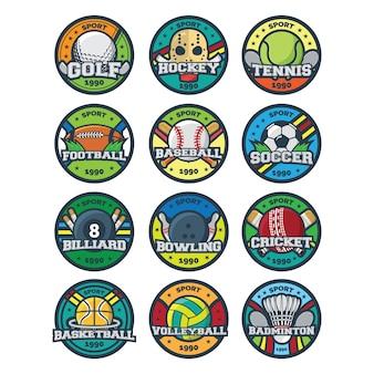 Vecteur d'illustration logo sport
