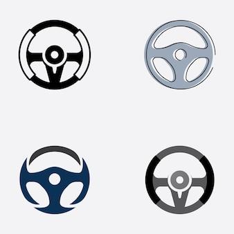 Vecteur d'illustration de logo de volant de voiture