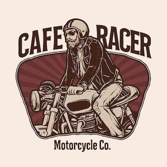 Vecteur d'illustration de moto personnalisée classique
