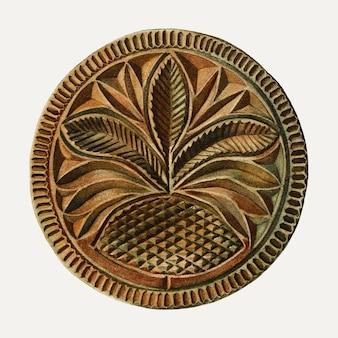 Vecteur d'illustration de moule à beurre vintage, remixé à partir de l'œuvre d'art de charlotte angus