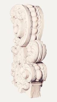 Vecteur d'illustration d'ornement d'architecture vintage, remixé à partir de l'œuvre d'art de betty fuerst.