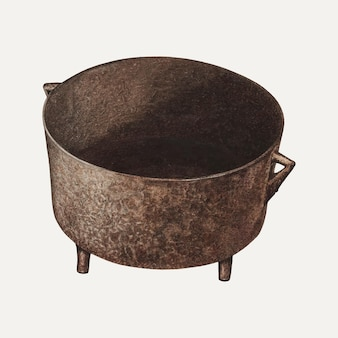 Vecteur d'illustration de pot vintage, remixé à partir de l'œuvre d'art de violet hartenstein