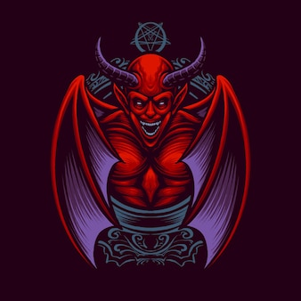 Le vecteur d'illustration roi diable