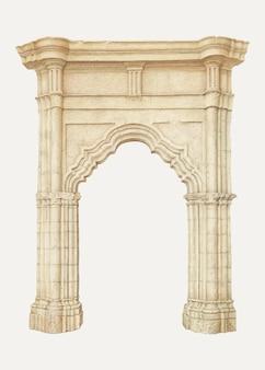 Vecteur d'illustration vintage archway, remixé à partir de l'œuvre d'art de rose campbell–gerke
