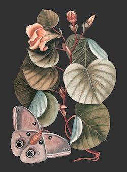 Vecteur d'illustration vintage mano tree, remix d'œuvres d'art originales.
