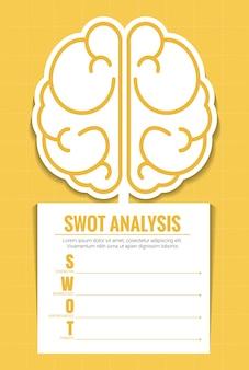 Vecteur d'infographie d'analyse swot