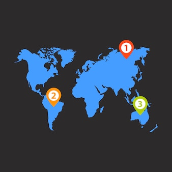 Vecteur infographie distribution mondiale