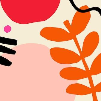 Vecteur d'insigne à motifs tropicaux coloré et amusant