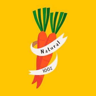Vecteur d'insigne de nourriture fraîche