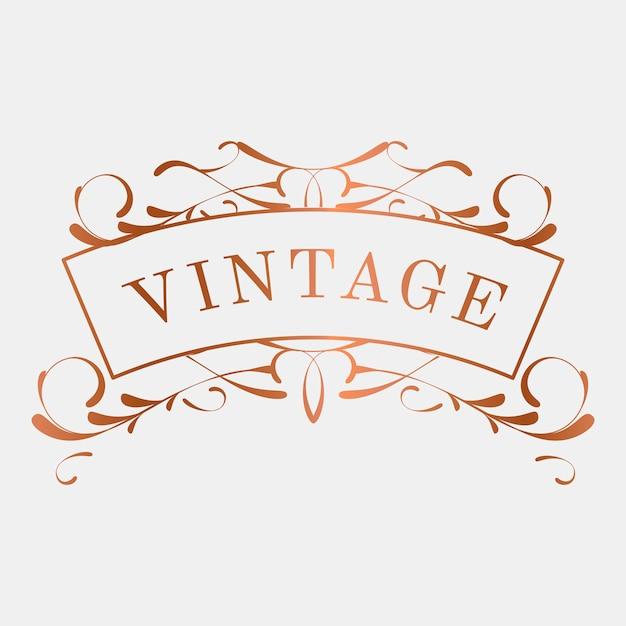 Vecteur d'insigne vintage art nouveau luxueux