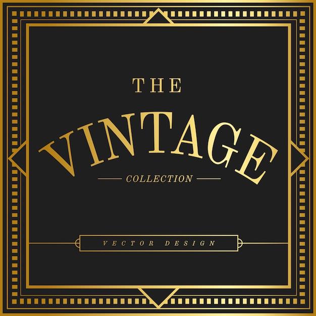 Vecteur d'insigne vintage art nouveau