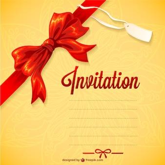 Vecteur d'invitation téléchargement gratuit