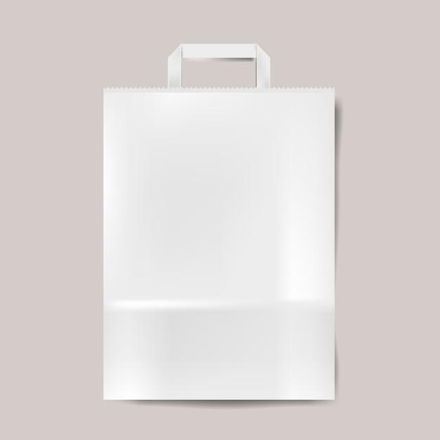Vecteur isolé de la maquette de sac en papier