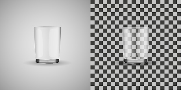 Vecteur isolé tasse de verre