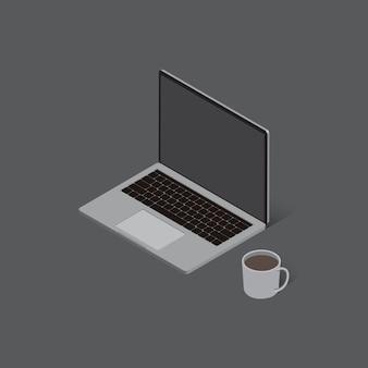 Vecteur isométrique laptor pour la conception graphique